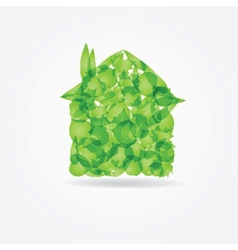 Ecological concept Small green house vector image