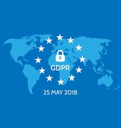 eu general data protection regulation eu gdpr vector image