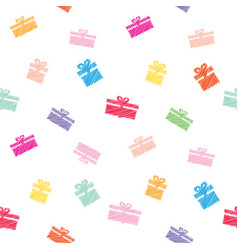 festive seamless pattern background with colorful vector image