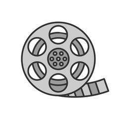 Filmstrip roll color icon vector
