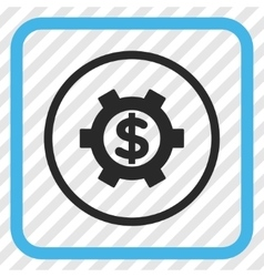 Financial settings icon in a frame vector