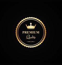 gold premium quality badge vector image