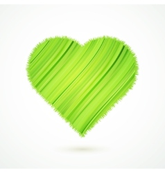 Green heart with abstract herbs texture vector