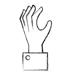 Hand human catching icon vector