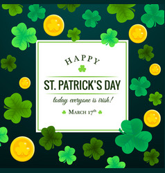 Happy st patricks day invitation vector