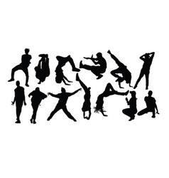 hip hop dance vector image