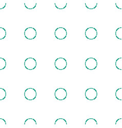Hoop icon pattern seamless white background vector