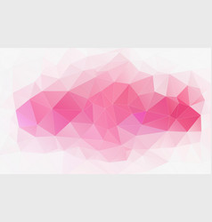 horizontal polygonal banner background vector image