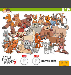 How many cats and dogs educational task for vector