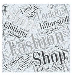 How to Choose the Perfect Fashion Store Word Cloud vector