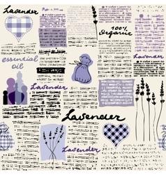 Lavender newspaper background vector