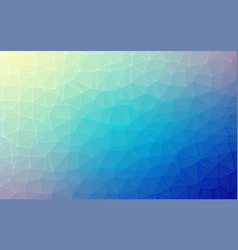 low poly background of triangles in blue colors vector image