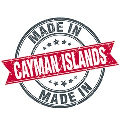 Made in Cayman Islands red round vintage stamp vector