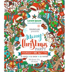 Merry Christmas Party Template vector