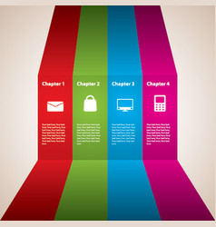 modern stripes business poster vector image