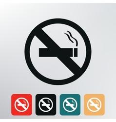 no smoking icon vector image
