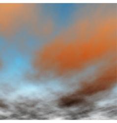 Orange sunset detail vector image