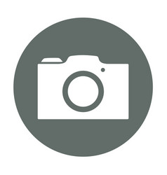 Photographic camera round icon vector