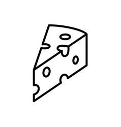 Piece of cheese linear icon graphic elements for vector