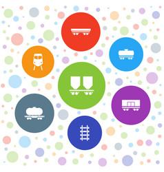 railway icons vector image