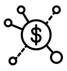 Revenue streams line icon dollar spread vector