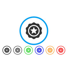 reward seal rounded icon vector image