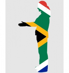Salute from South Africa vector