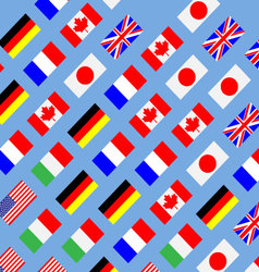 Seamless pattern flag g7 vector