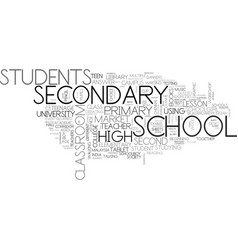 Secondary word cloud concept vector