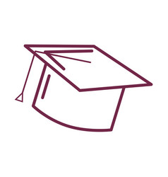 Silhouette graduation cap tool to traditional vector
