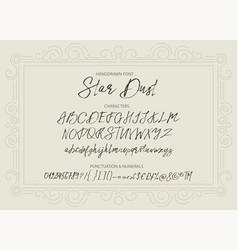 Star dust handdrawn font vector