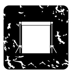Studio backdrop icon grunge style vector