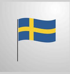 Sweden waving flag vector