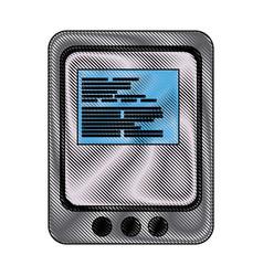 Tablet website page digital online app vector
