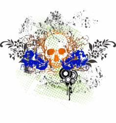 Tattoo skull grunge vector