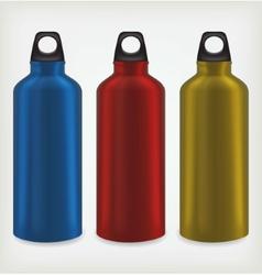 Three water bottles vector image