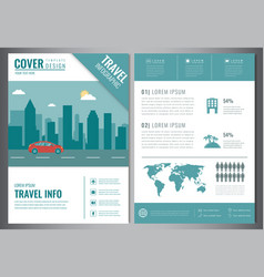 Travel brochure design template travel and vector