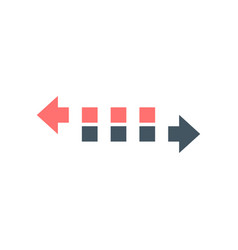 Two dashed arrow to left and right double side vector