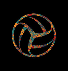 volleyball black symbol vector image