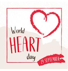 world heart day concept 29 september vector image