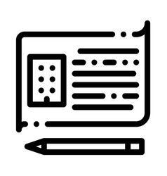 Written building information model icon vector