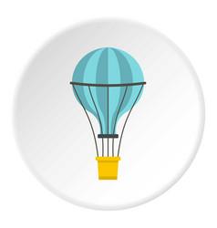 Yellow airship icon circle vector