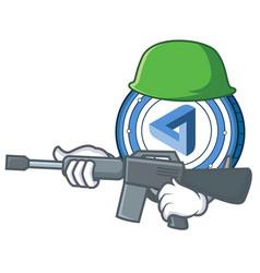 Army maidsafecoin character cartoon style vector
