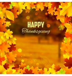Happy thanksgiving background with maple leaves vector