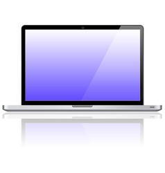 Laptop notebook personal computer vector image vector image