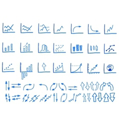 Set of doodle sketched hand drawn business vector image vector image