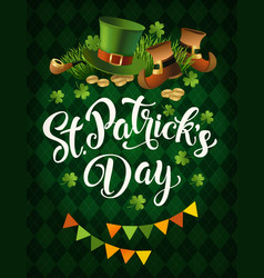 st patricks day holiday poster design vector image vector image