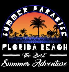 Summer beach background in retro style vector