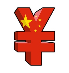 Yen sign Chinese money Yen National currency in vector image vector image