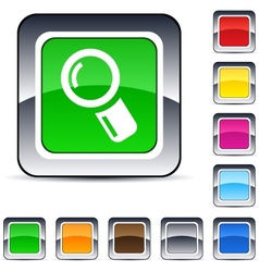 zoom square button vector image vector image